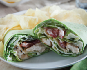 Chicken Wrap with Avocado Ranch Dressing