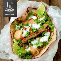Mix greek yogurt with Cilantro Lime Rice Seasoning for a great tasting fish taco!